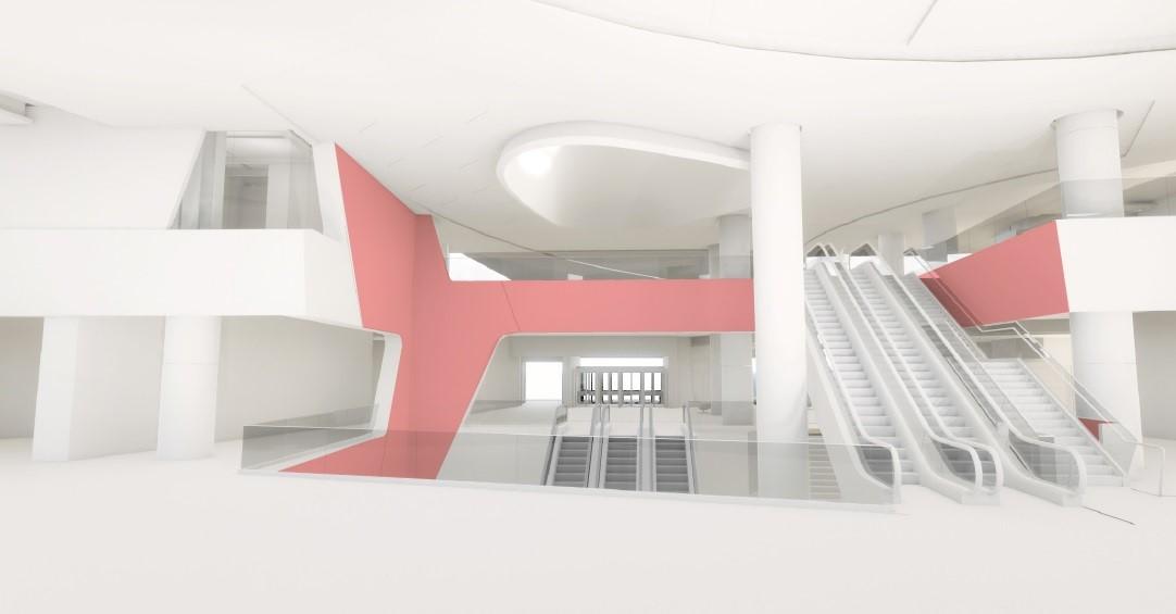 Sketch of SFO Atrium