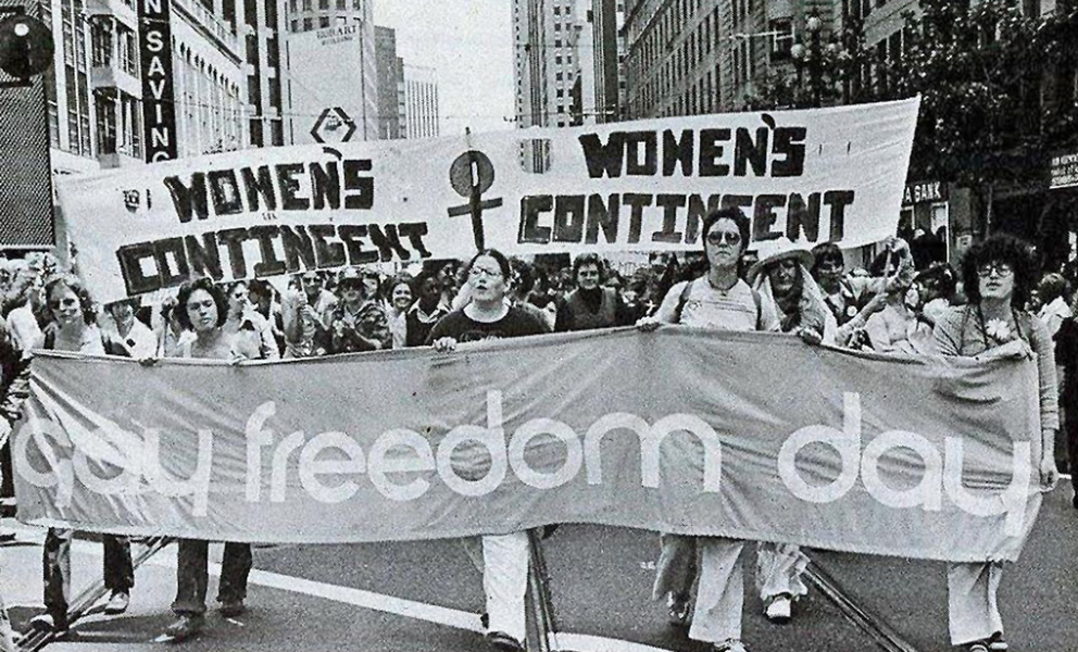 Archival image from the 1976/77 Pride Parade