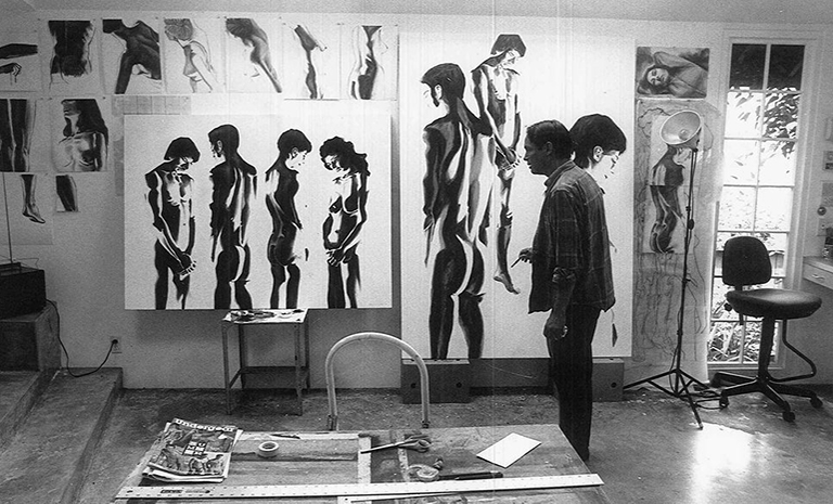 Image of Ed Aulerich-Sugai in his studio