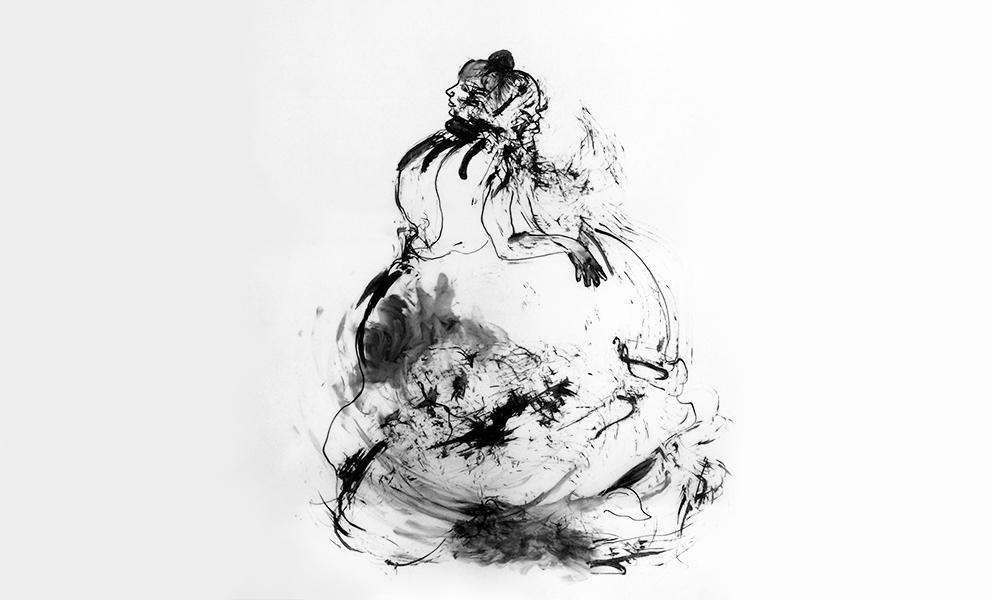 Black and white figure