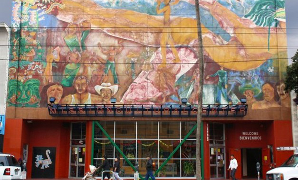 Mural on the front of a building