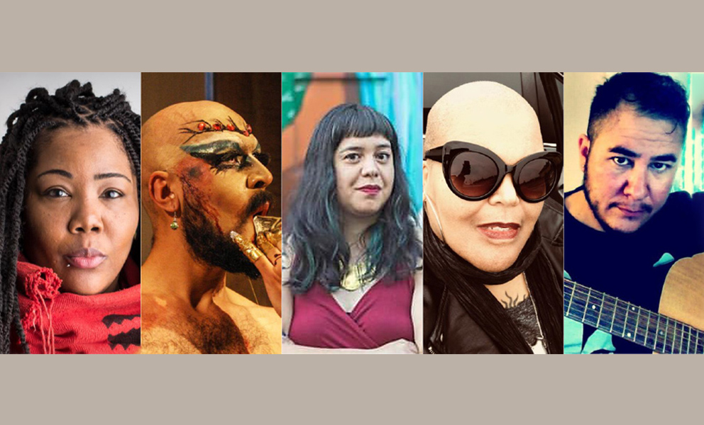 Five photograph portraits of the participating artists