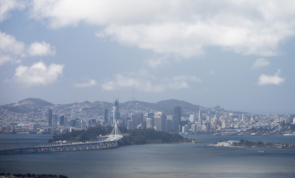 View of Yerba Buena Island and Treasure Island from the East Bay