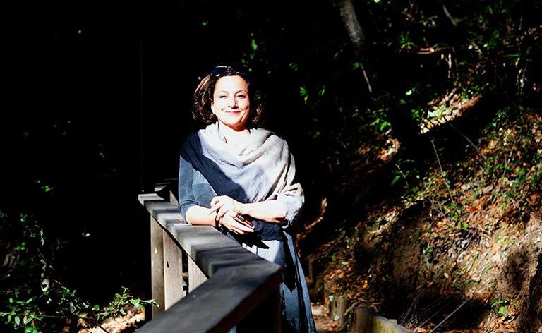 Portrait of Tarneh Hemami outdoors