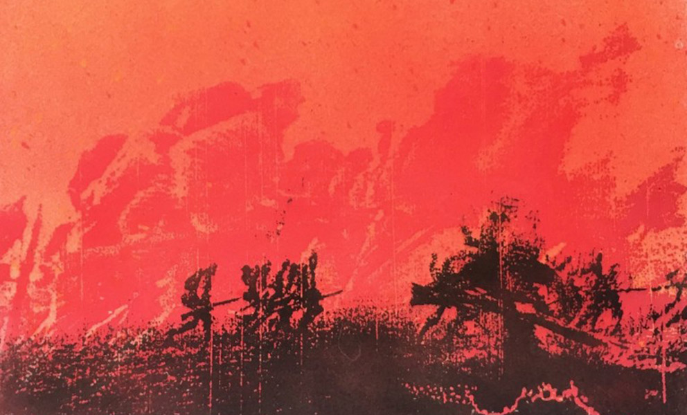 Xmas Truce print  from the series in collaboration with Kronos Quartet