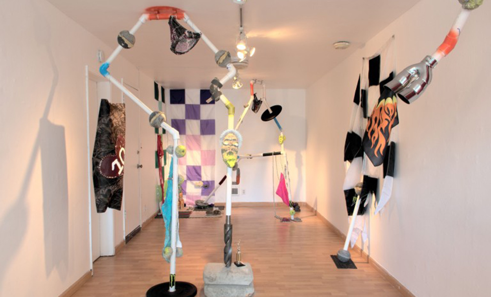 Installation view of Yellow No. 5, Bruh at Royal NoneSuch Gallery