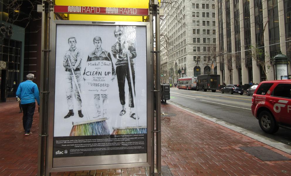 Bus kiosk poster on Market Street