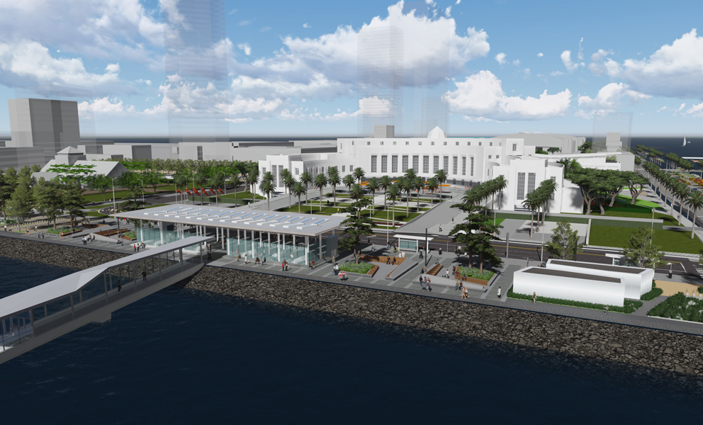 Rendering of the Treasure Island Redevelopment