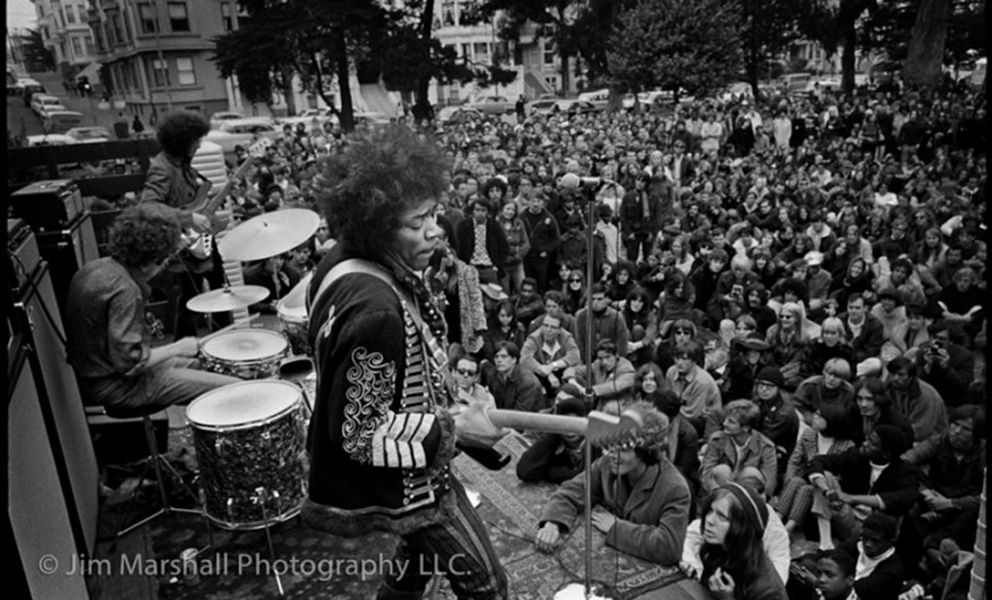 Jim Marshall, Jimi Hendrix in the Haight
