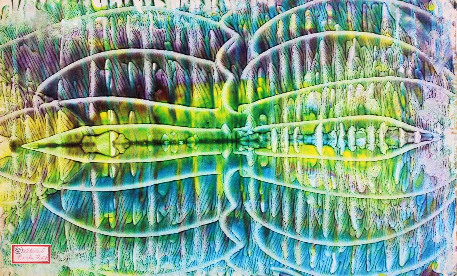 A color abstract painting by a child